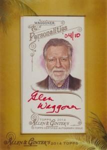 2014 Topps Allen & Ginter Non-Baseball Autographs Glen Waggoner