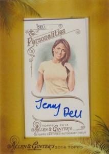 2014 Topps Allen & Ginter Non-Baseball Autographs Jenny Dell