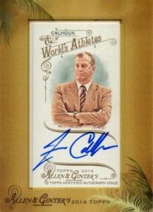 2014 Topps Allen & Ginter Non-Baseball Autographs Jim Calhoun