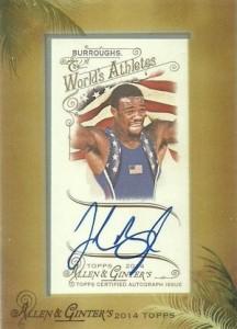 2014 Topps Allen & Ginter Non-Baseball Autographs Jordan Burroughs