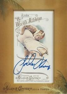 2014 Topps Allen & Ginter Non-Baseball Autographs Jordan Oliver