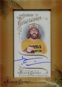 2014 Topps Allen & Ginter Non-Baseball Autographs Judah Friedlander