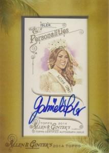2014 Topps Allen & Ginter Non-Baseball Autographs Maria Gabriela Isler