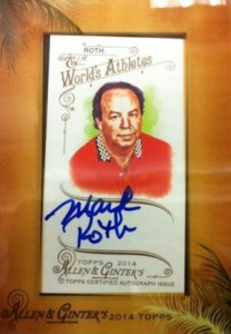 2014 Topps Allen & Ginter Non-Baseball Autographs Mark Roth