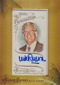 2014 Topps Allen & Ginter Non-Baseball Autographs Mike Pereira
