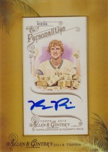 2014 Topps Allen & Ginter Non-Baseball Autographs Ryan Riess
