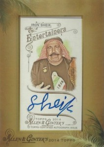 2014 Topps Allen & Ginter Non-Baseball Autographs The Iron Sheik