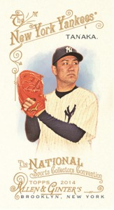 2014 Topps Allen and Ginter National Sports Collectors Convention Masahiro Tanaka copy