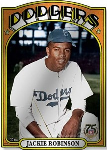 2014 Topps Hall of Fame 75th Metal Wall Art Jackie Robinson