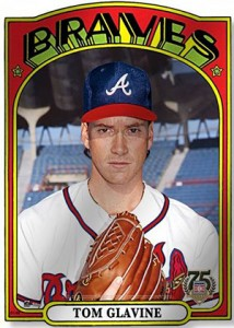 2014 Topps Hall of Fame 75th Metal Wall Art Tom Glavine