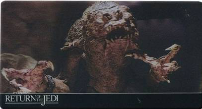 2014 Topps Return of the Jedi 3D Widevision Base Rancor