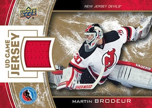 2014 Upper Deck Hockey Hall of Fame Game Jersey Martin Brodeur