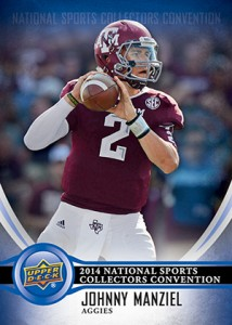 2014 Upper Deck NSCC Johnny Manziel