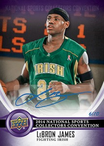 2014 Upper Deck NSCC LeBron James Autograph