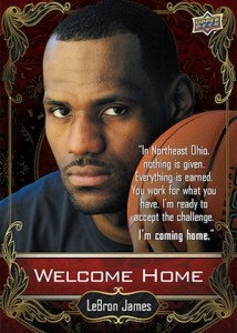 2014 Upper Deck NSCC Welcome Home LeBron James front