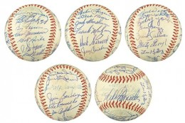 Boston Red Sox Team Signed Balls