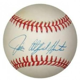 Catfish Hunter Signed Baseball