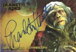 2001 Topps Planet of the Apes Autographs Charlton Heston as Thades Father