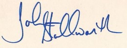 John Stallworth Signature Example