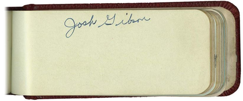 Josh Gibson Cards and Autographed Memorabilia Guide 29
