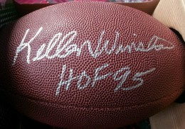 Kellen Winslow Signed Football