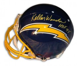 Kellen Winslow Signed Helmet