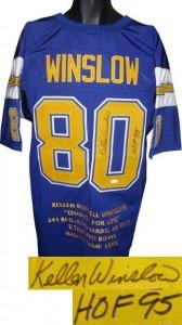 Kellen Winslow Signed Jersey