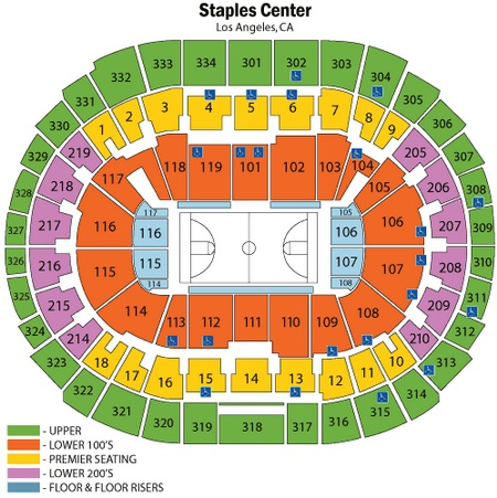 Los Angeles Lakers Staples Center Seating