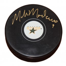 Mike Modano Signed Puck