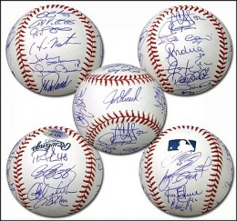 NY Yankees Team Signed Balls