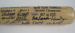 NY Yankees Team Signed Bats