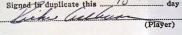 Richie Ashburn Signature Example