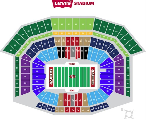 San Francisco 49ers Levis Stadium Seating Chart