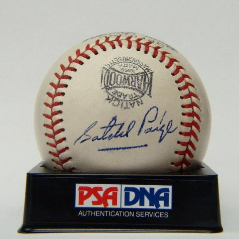 Satchel Paige Signed Baseball