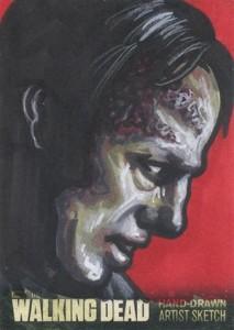 Walking Dead Season 3 Sketch Card Ashleigh Popplewell