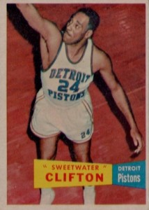 1957-58 Topps Nat Clifton RC #1
