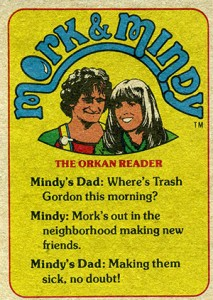 1978 Topps Mork and Mindy 58 Back