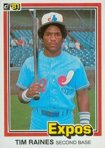 1981 Donruss Baseball Tim Raines