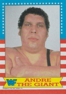 1987 Topps WWF Base Superstar Andre the Giant