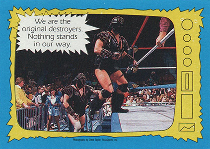 1987 Topps WWF Superstars Speak