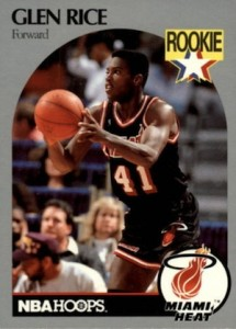 1990-91 Hoops Glen Rice RC #168