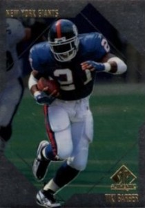 1997 SP Authentic Tiki Barber RC #137