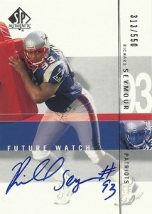 2001 SP Authentic Richard Seymour Autograph