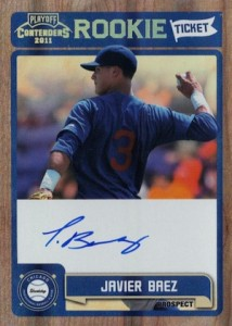 2011 Playoff Contenders Rookie Ticket Javier Baez #RT13 Autograph