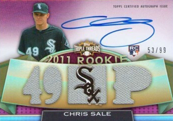 Chris Sale Rookie Cards and Prospect Card Guide 12
