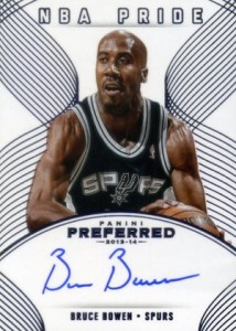 2013-14 Panin Preferred NBA Pride Autographs Bruce Bowen