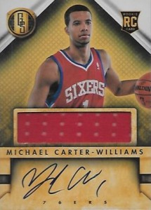 2013-14 Panini Gold Standard Michael Carter-Williams #232 Autographed Jersey