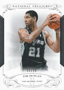 2013-14 Panini National Treasures Basketball Base Duncan