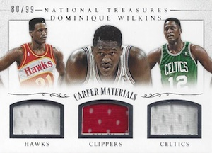 2013-14 Panini National Treasures Basketball Career Materials Trios Wilkins