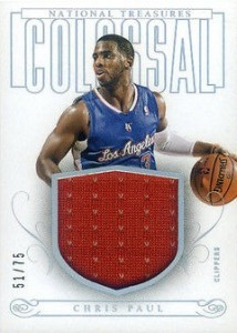 2013-14 Panini National Treasures Basketball Colossal Jerseys Chris Paul